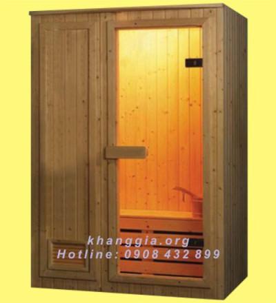 Phòng xông khô gỗ thông Phần Lan (100x120x200)cm-thumb-1