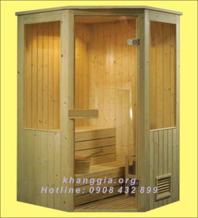 Phòng xông khô gỗ thông Phần Lan (120x120x200)cm-thumb-3