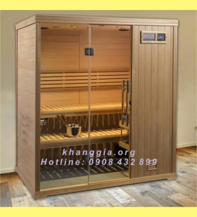 Phòng xông khô gỗ thông Phần Lan (120x140x200)cm-thumb-5