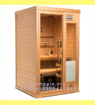 Phòng xông khô gỗ thông Phần Lan (130x130x200)cm-thumb-0