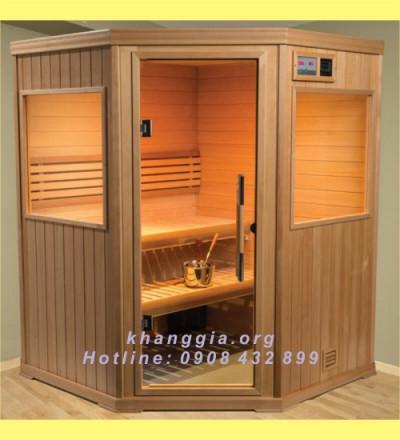 Phòng xông khô gỗ thông Phần Lan (150x150x200)cm-thumb-6