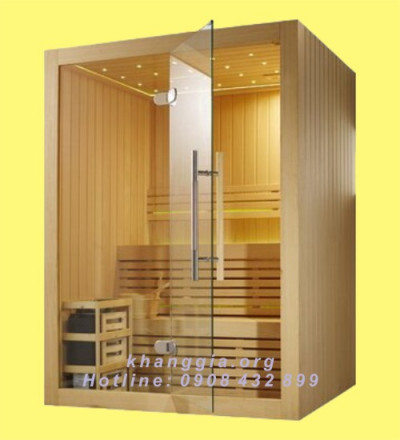 Phòng xông khô gỗ thông Phần Lan (150x150x200)cm-thumb-2