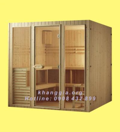 Phòng xông khô gỗ thông Phần Lan (150x180x200)cm-thumb-4